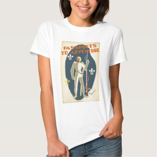 Caballeros, aventuras, y poster de los libros t-shirts
