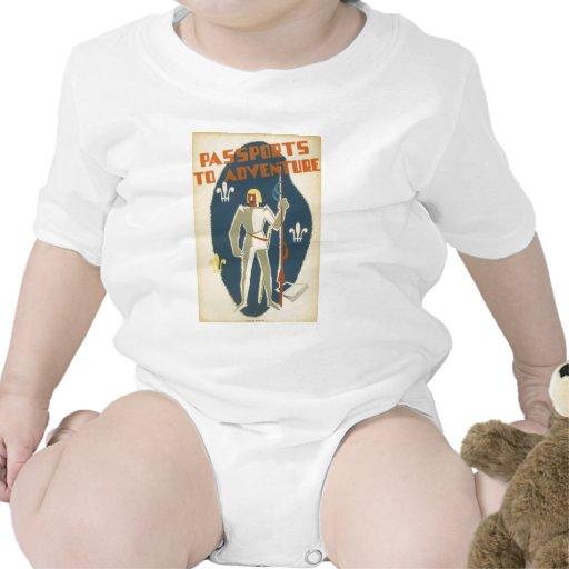 Caballeros, aventuras, y poster de los libros traje de bebé
