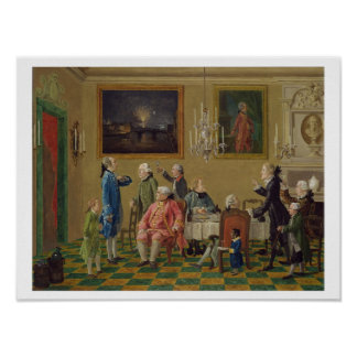 Caballeros británicos en el hogar de sir Horacio M Póster