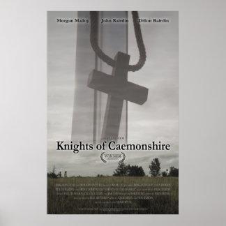 Caballeros de Caemonshire con el poster del premio