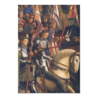 "Caballeros de Cristo (Altarpiece) de Gante, Jan Invitación 3.5"" X 5"""