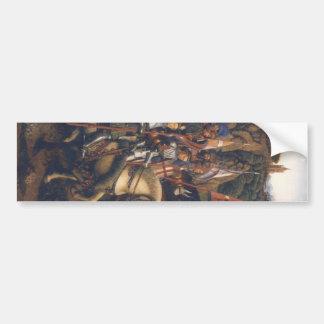 Caballeros de Cristo (Altarpiece) de Gante, Jan va Pegatina Para Auto