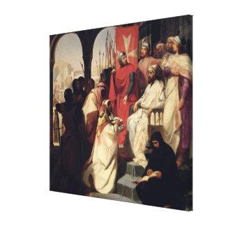 Caballeros de la orden de St. John de Jerusalén Lona Envuelta Para Galerias