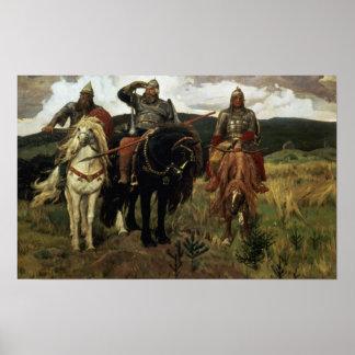 Caballeros del guerrero, 1881-98 posters