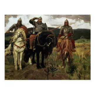 Caballeros del guerrero 1881-98 tarjetas postales