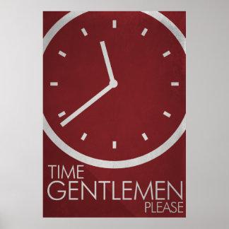 ¡Caballeros del tiempo, por favor! Poster minimali Póster