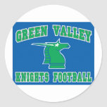 Caballeros del valle verde pegatina redonda