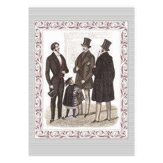 Caballeros elegantes de Biedermeier en desgaste fo Tarjetas De Visita
