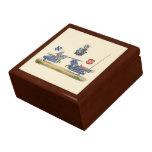Caballeros Jousting - tema medieval Caja De Joyas