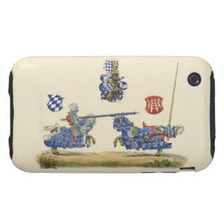 Caballeros Jousting - tema medieval Tough iPhone 3 Cárcasas