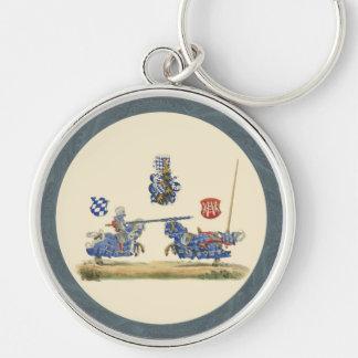 Caballeros Jousting - tema medieval Llavero Personalizado