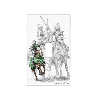 Caballeros medievales del renacimiento cubierta para interruptor