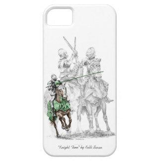 Caballeros medievales del renacimiento iPhone 5 funda