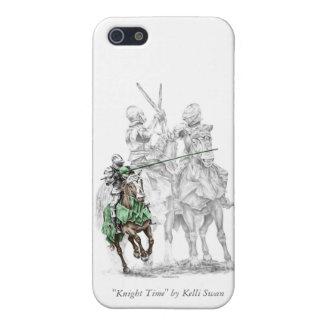 Caballeros medievales del renacimiento iPhone 5 carcasa