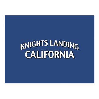Caballeros que aterrizan California Postales