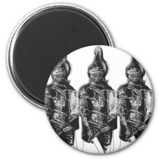 Caballeros sajones imán redondo 5 cm