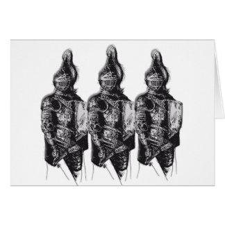 Caballeros sajones tarjeta de felicitación