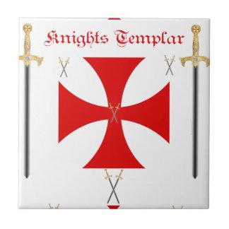 Caballeros Templar Azulejo Cuadrado Pequeño