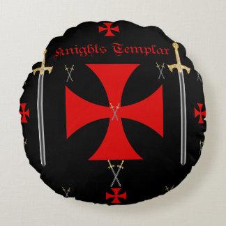 Caballeros Templar Cojín Redondo
