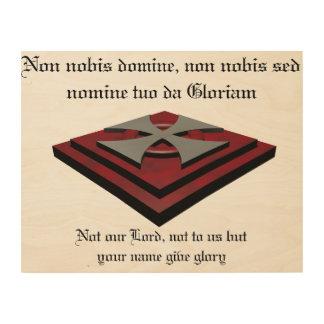 Caballeros Templar Impresión En Madera