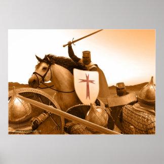 Caballeros Templar - venido a la muerte Póster