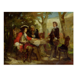 Caballeros y Claude Louis Hector de Jean Tarjeta Postal