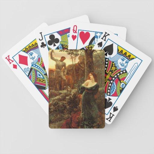 Caballerosidad [sir Frank Dicksee] Baraja Cartas De Poker