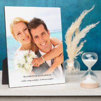 Caballete blanco simple clásico de la foto del placa