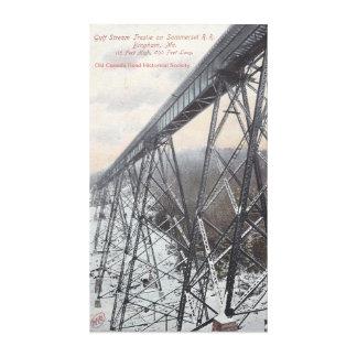 Caballete del ferrocarril de Somerset Impresión En Lona