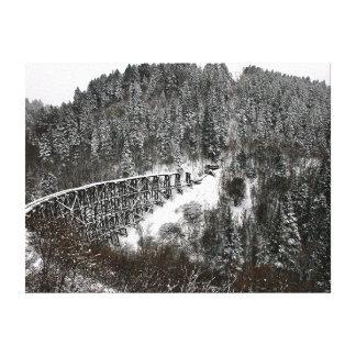 Caballete del ferrocarril en Cloudcroft New México Impresión De Lienzo