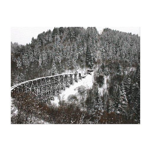 Caballete del ferrocarril en Cloudcroft New México Lienzo Envuelto Para Galerías