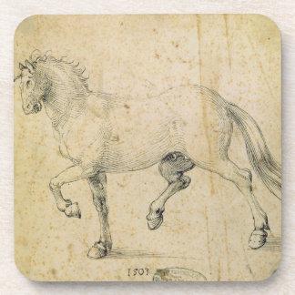 Caballo, 1503 (pluma y tinta en el papel) posavasos
