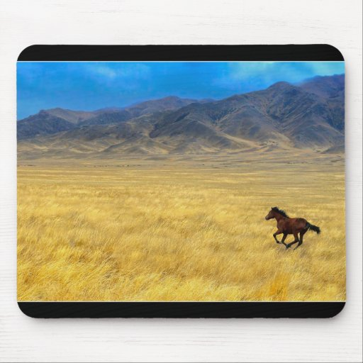 caballo a la montaña tapetes de raton
