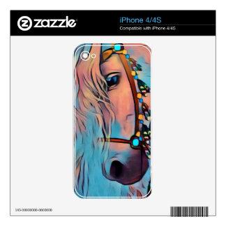 Caballo abstracto iPhone 4 calcomanías