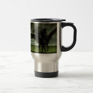 Caballo abstracto Pegassus de los diablos de la fa Taza De Café