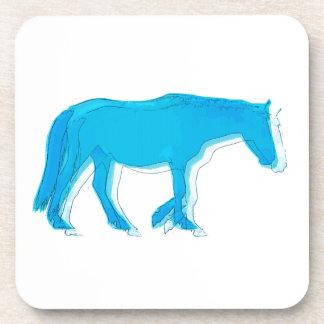 Caballo alineado azul posavaso