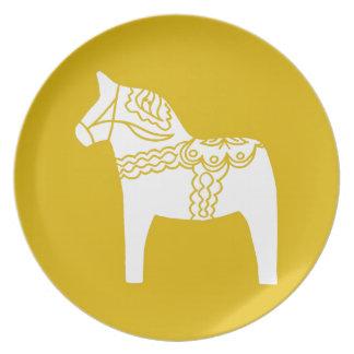 Caballo amarillo de Dala Platos De Comidas