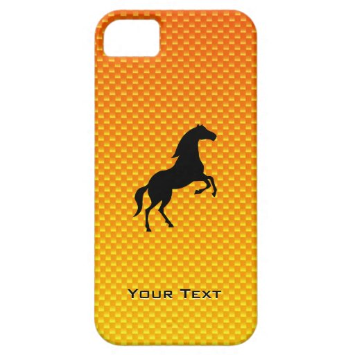 Caballo amarillo-naranja iPhone 5 carcasa