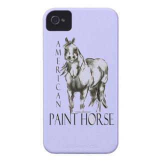 Caballo americano de la pintura iPhone 4 Case-Mate carcasas
