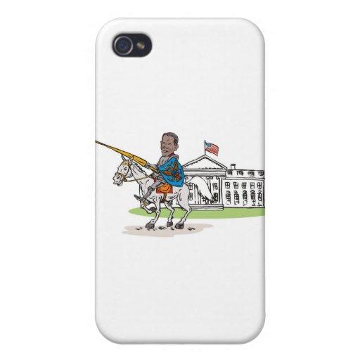 Caballo americano del jinete del caballero de pres iPhone 4/4S funda