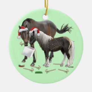 Caballo and Cisco Christmas Ceramic Ornament
