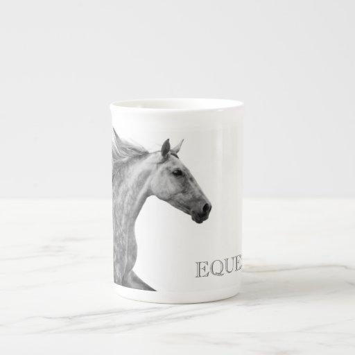 Caballo andaluz galopante rústico taza de porcelana