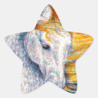 Caballo andaluz pegatinas forma de estrella personalizadas