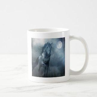 Caballo animal abstracto del claro de luna taza