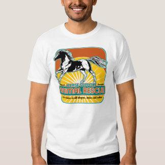 Caballo animal del rescate camisas