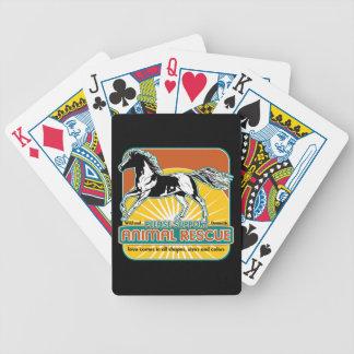 Caballo animal del rescate baraja cartas de poker