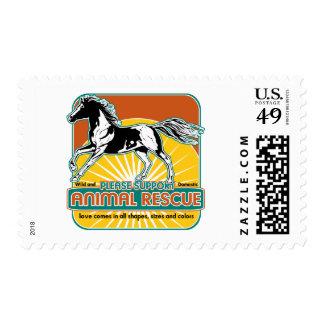 Caballo animal del rescate sellos postales