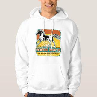 Caballo animal del rescate suéter con capucha