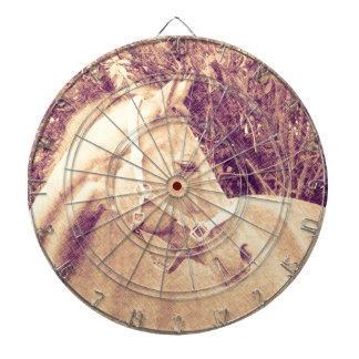 Caballo, apariencia vintage tabla dardos