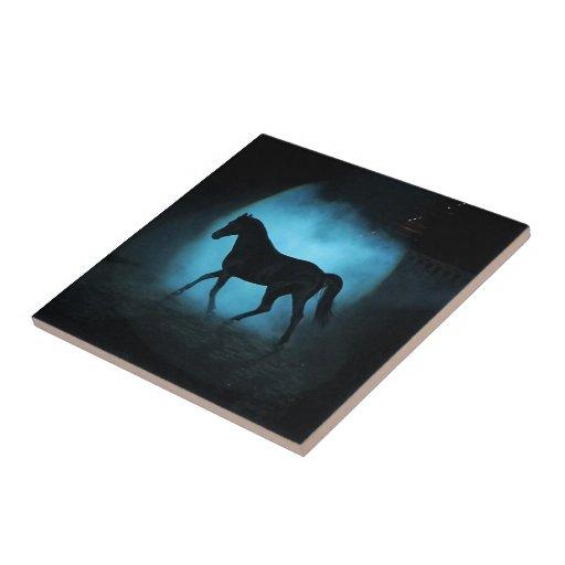 caballo árabe azulejo cuadrado pequeño